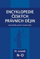 Karel Schelle, Jaromír Tauchen (eds.) Encyklopedie českých právních dějin, IV.svazekN-O