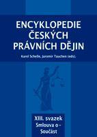 Karel Schelle, Jaromír Tauchen (eds.) Encyklopedie českých právních dějin, XIII.svazekSmlouva o - Součást